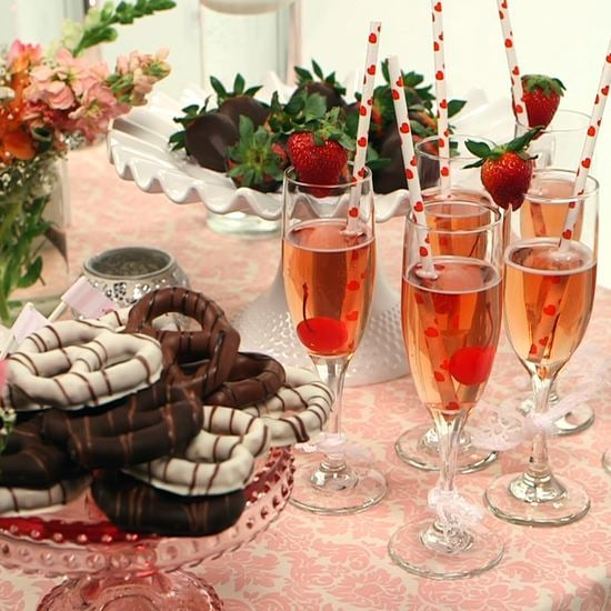 A Girlie Valentine's Day Dessert Table