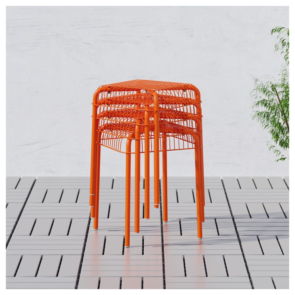 Stools that are as much seats as tables and completely stackable. VÄSTERÖN Stool ($14.99)