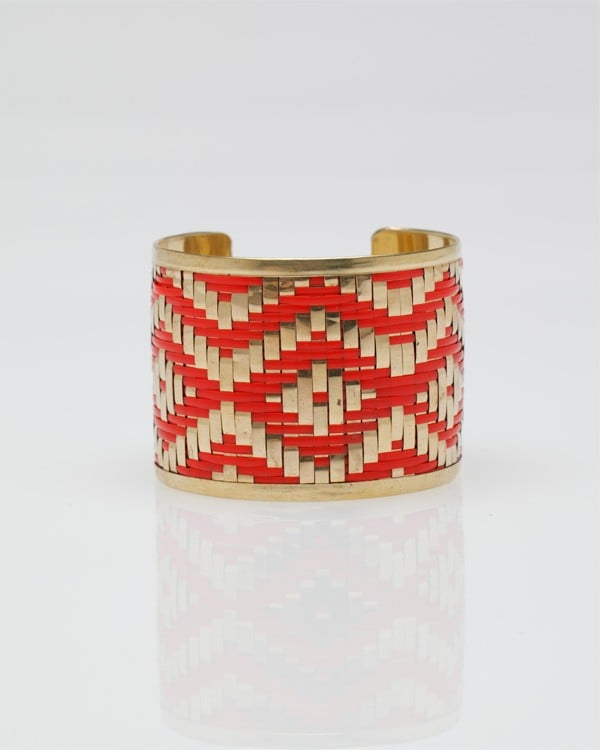 We'll throw on this pretty accent piece to transform a tired look in a snap.  Need Supply Ikat Cuff Bracelet ($16)