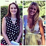 Blake Lively and Leighton Meester got to work. Source: Twitter user DavidSchwitzer