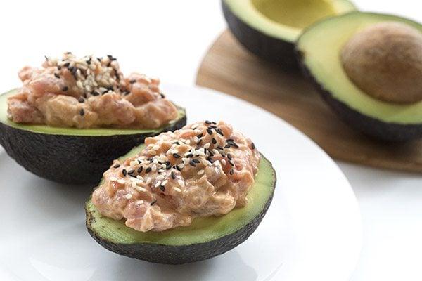 Spicy Tuna-Stuffed Avocado