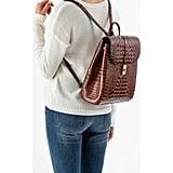 Brahmin Sadie Croc Embossed Leather Backpack