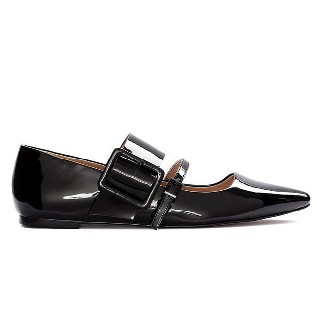 H&M Patent Belted Ballet Flats ($30)
