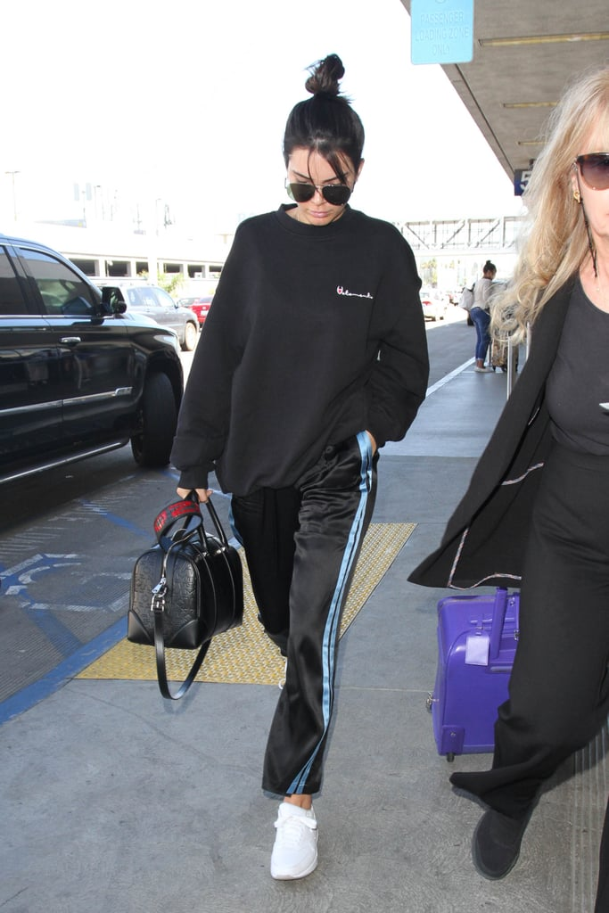 Kendall Jenner Was Spotted at LAX in a Cozy Pair of Track Pants
