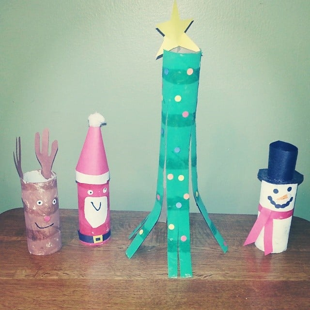 Toilet Paper Roll Characters Kids Christmas Crafts