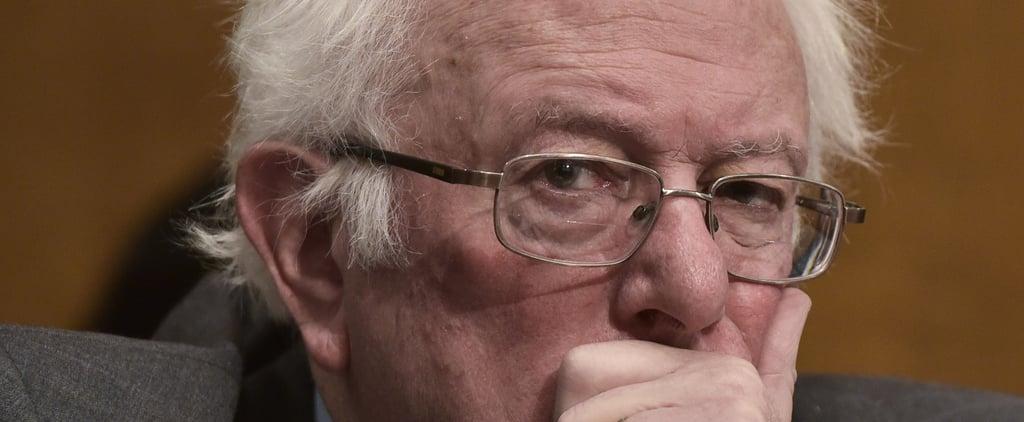 Bernie Sanders Laughs at Trump's Healthcare Comment