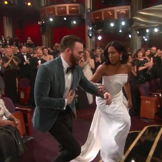 Chris Evans Helping Regina King Up the Stairs 2019 Oscars