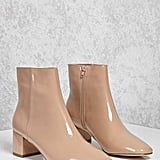 Forever 21 Patent Faux Leather Ankle Boots