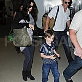 Rachel Weisz and Daniel Craig at the airport.