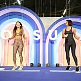Katrina Scott and Karena Dawn at POPSUGAR Play/Ground