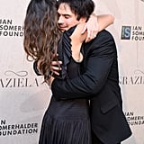 The two shared a sweet hug at Ian's foundation gala in Chicago in December 2016.