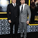 David O. Russell posed for photos with Jeremy Renner.