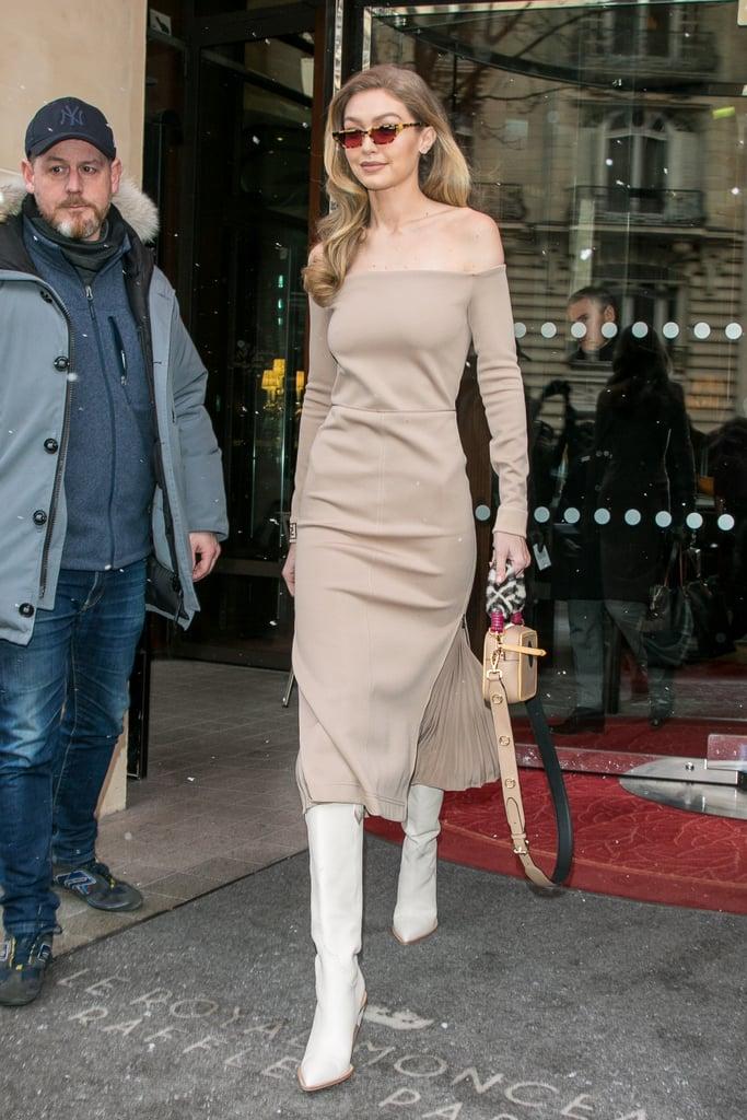 Gigi Hadid's White Fendi Boots
