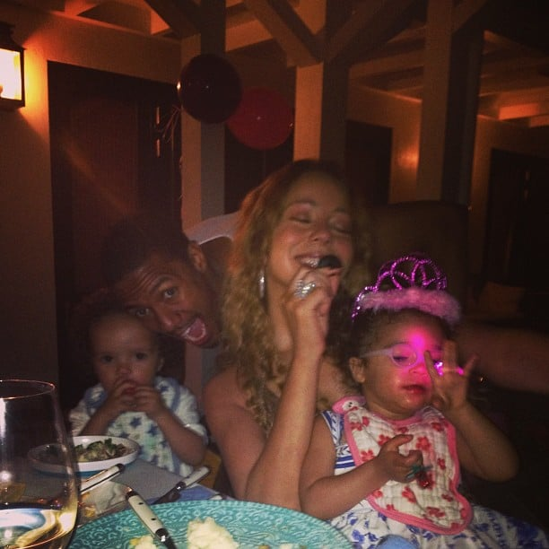 Mariah Carey and Nick Cannon spent their anniversary with their twins, Moroccan and Monroe. Source: Instagram user mariahcarey