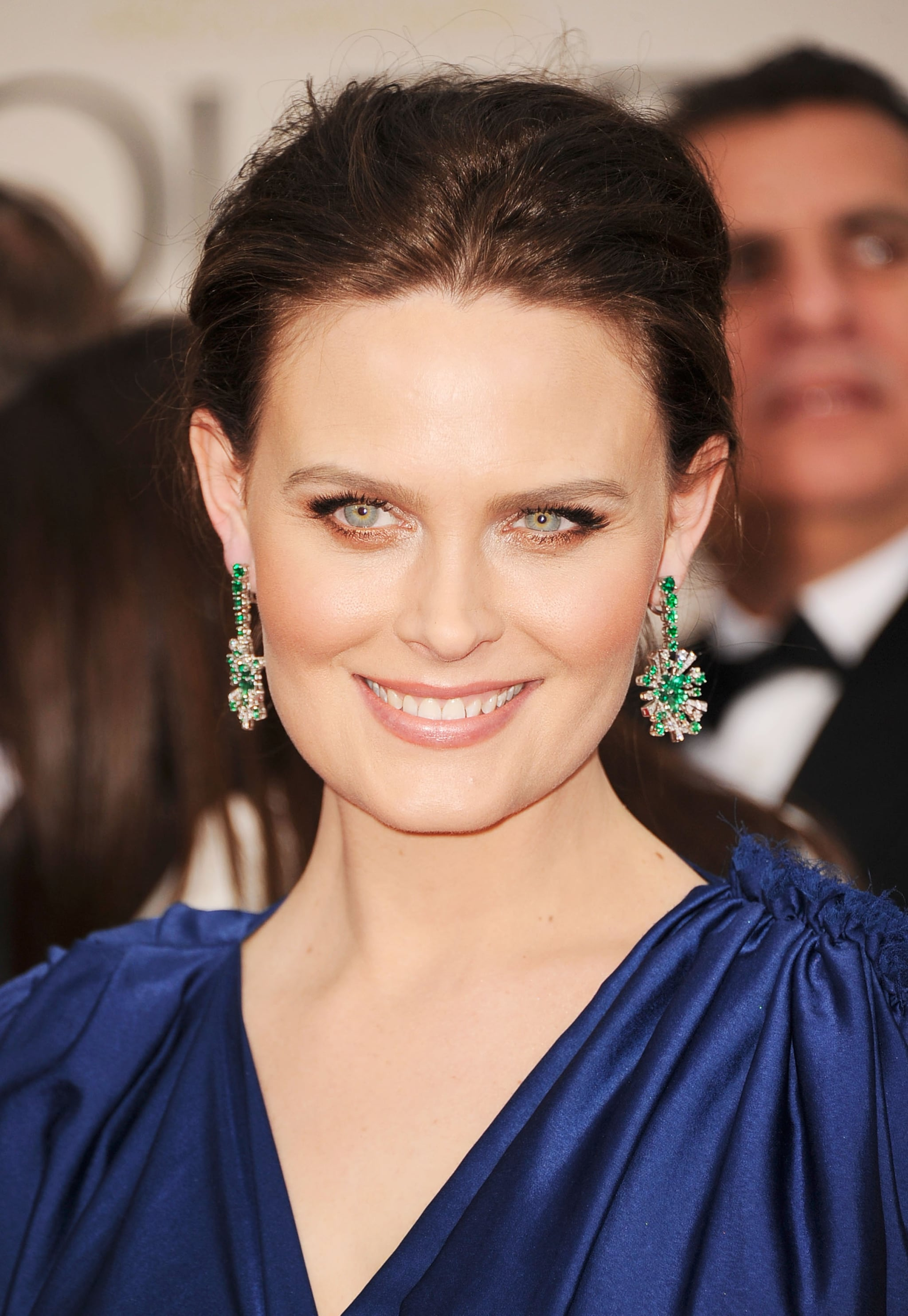 Emily Deschanel at the Golden Globes.