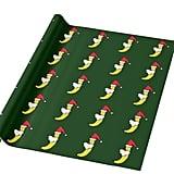 Funny Santa Banana Wrapping Paper
