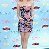 Bridgit Mendler made a splash in Kelly Wearstler's splattered minidress.