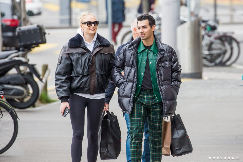 "Sophie Turner and Joe Jonas are going to be parents! Just a day after news broke that the couple are expecting their first child, Joe and Sophie were spotted on a stroll in Switzerland on Thursday. The pair kept things casual as they layered up for the chilly weather and did some shopping. The Jonas Brothers are currently in the midst of their Happiness Begins tour and are performing at Zurich's Hallenstadion arena later that night. Sophie and Joe tied the knot not once but twice last year after dating for three years. According to Us Weekly, Sophie is reportedly ""due in the middle of Summer,"" though the duo have yet to confirm the news themselves. ""They told their families recently and everyone is ecstatic and so happy for them,"" a source told E! News. Congrats to Joe and Sophie on their growing family! Related: It's Clear That Joe Jonas and Sophie Turner Make Each Other Incredibly Happy"