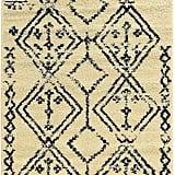 Linon Moroccan FES Ivory/Black 8x10