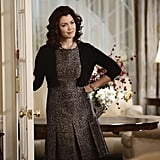 Mellie's dress is proof that tweed doesn't have to be stuffy.