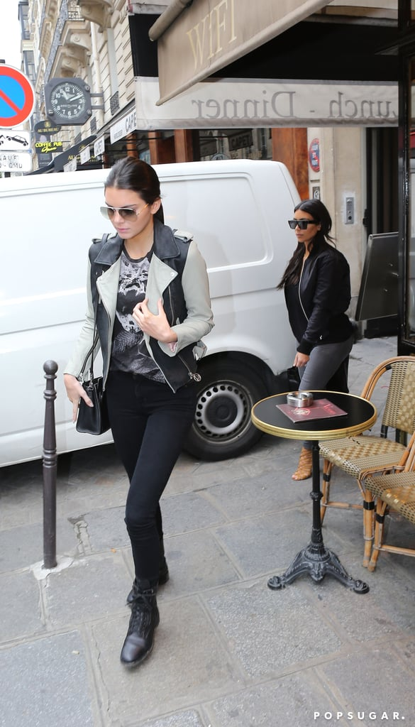 Kendall met up with Kim in Paris on Wednesday.