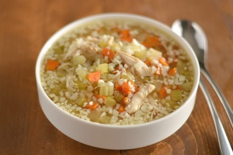 Slow-Cooker Chicken and Cauliflower Rice Soup
