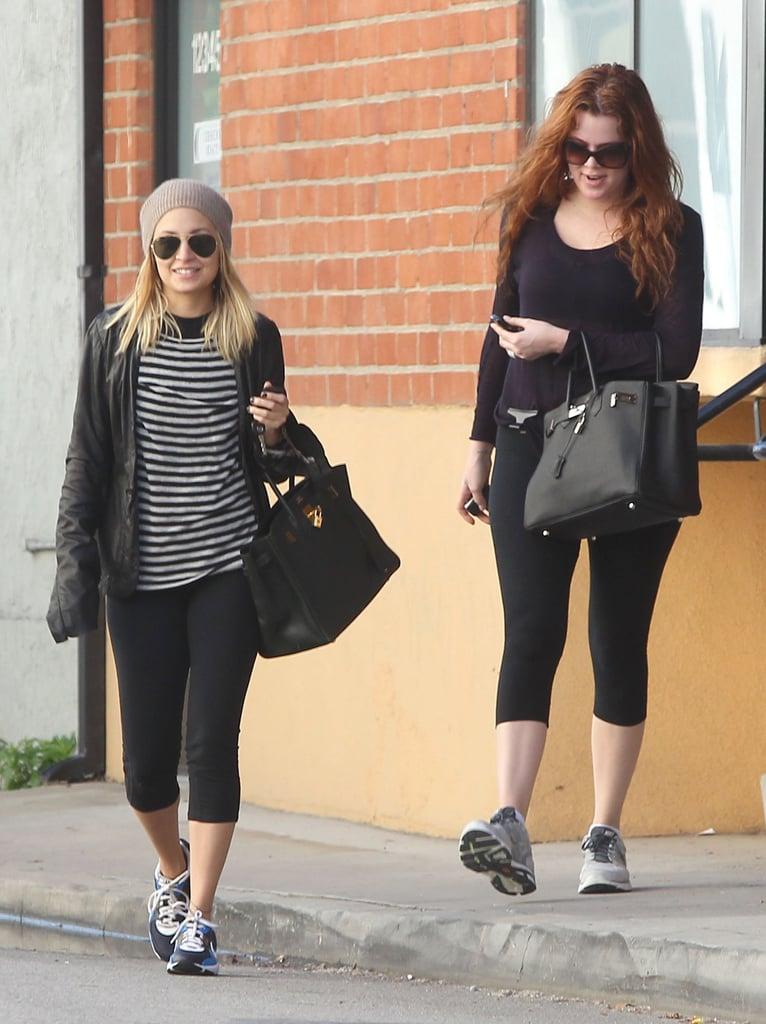 Nicole Richie and Khloe Kardashian Are Birkin Gym Buddies