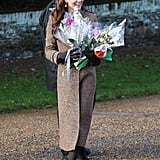 Kate During Christmas at Sandringham in 2014