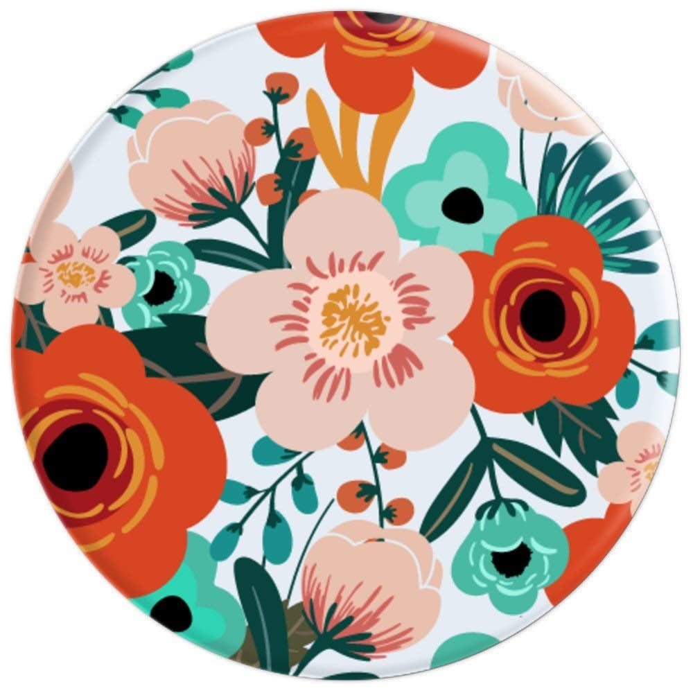 Trendy Floral Botanical Garden Pink and Orange PopSocket