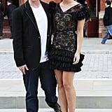 Rupert and Emma stepped out in black.