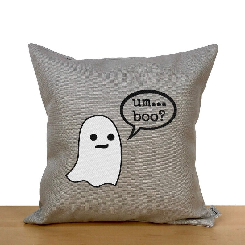 Cute Ghost Throw Pillow