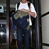 Ryan Gosling was spotted leaving LAX.