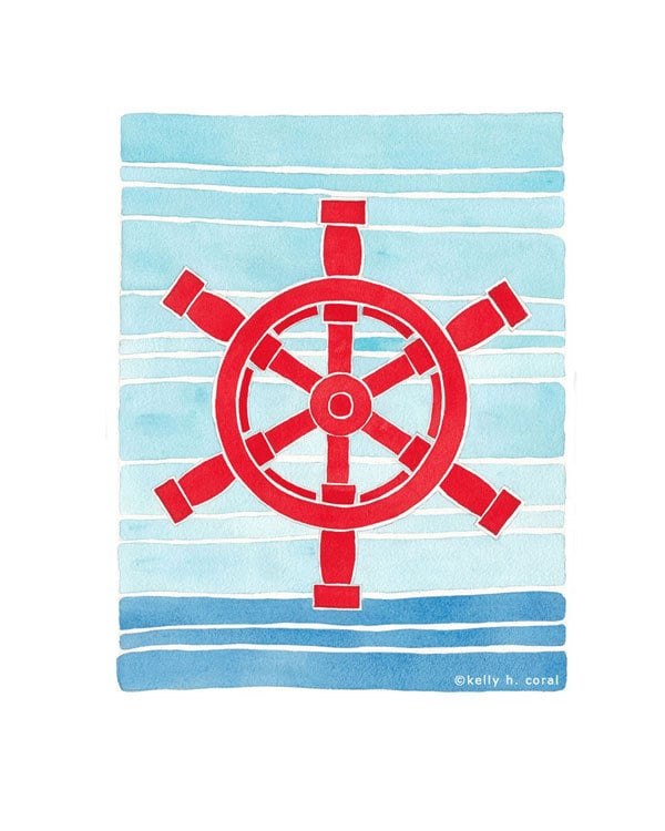 Make your little one feel like a captain with this nautical art print ($18).