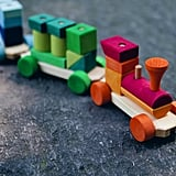 Rainbow Wooden Train