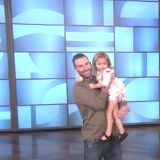 Little Girl Meets Adam Levine on The Ellen DeGeneres Show