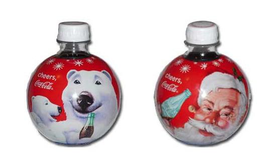 2009 coca cola round holiday ornament bottles popsugar food