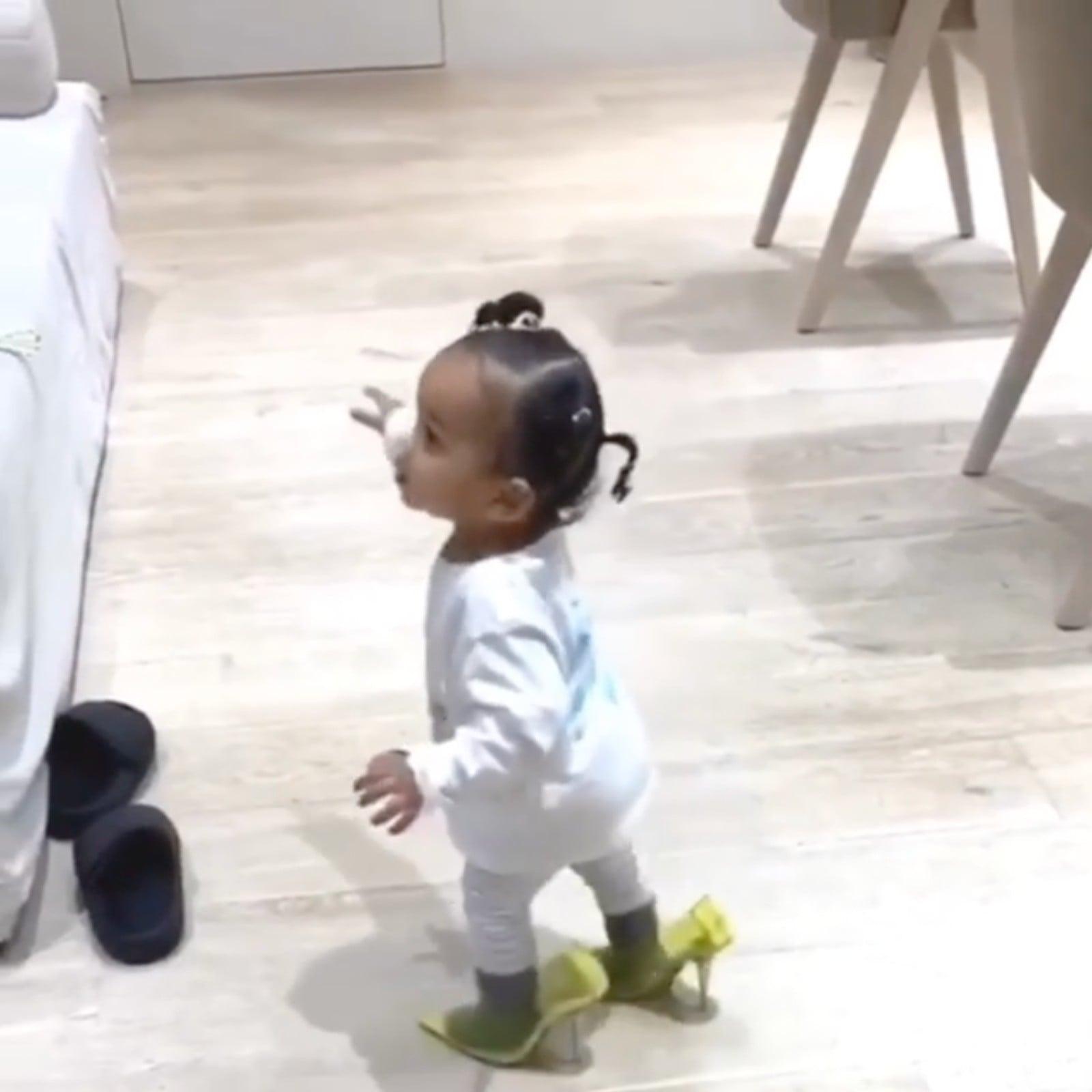 Chicago West Wears Kim Kardashian's Heels | POPSUGAR Fashion