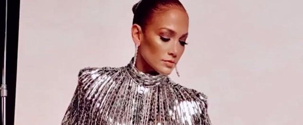 Jennifer Lopez's Silver Cape Gown on World of Dance Finale