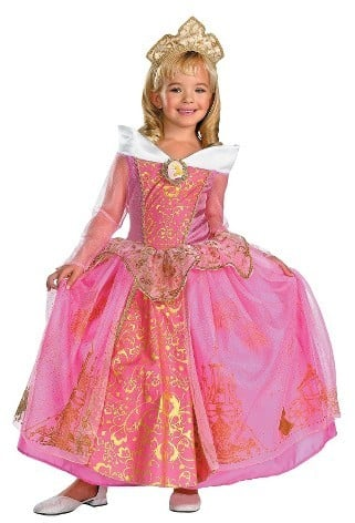 Disney Maleficent Girls Storybook Aurora Prestige Costume