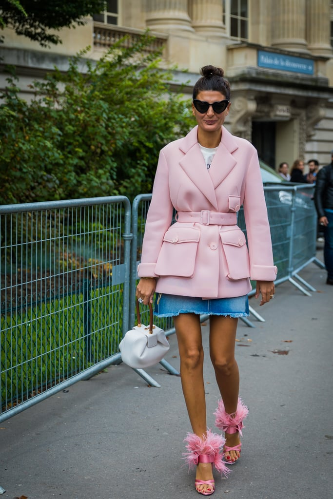 Giovanna Battaglia doubled up on sweet pink.