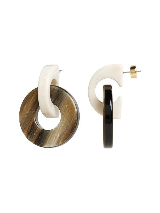Resin Doorknocker Earring