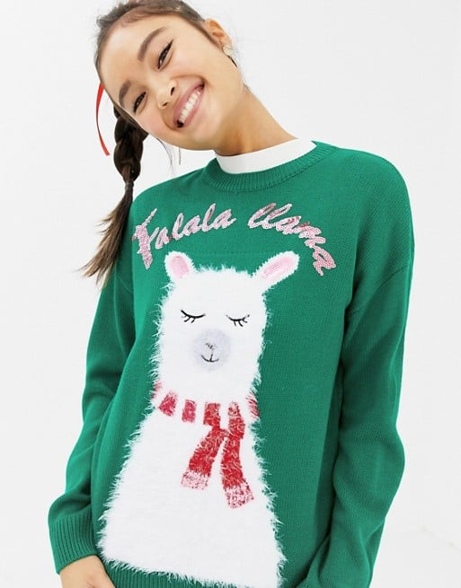 New Look Llama Holidays Sweater