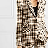 Paco Rabanne Checked Wool-Twill Blazer