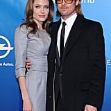 Angelina Jolie and Brad Pitt attended the Cinema for Peace gala together.