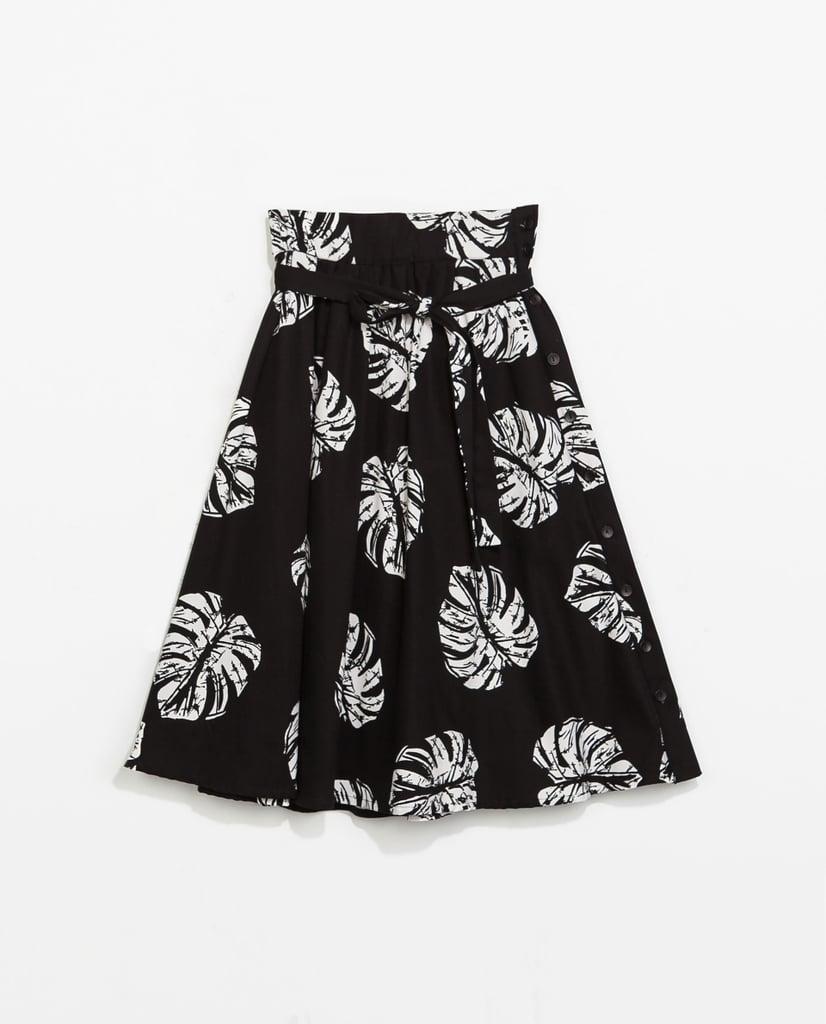Zara Printed Full Skirt