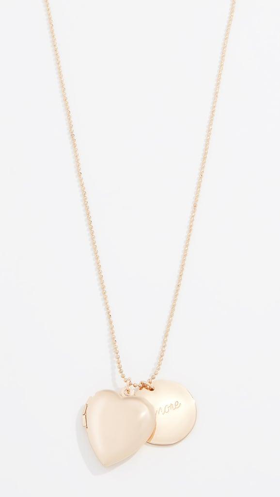 BaubleBar Amor Pendant Necklace | Shopbop Holiday Sale 2018