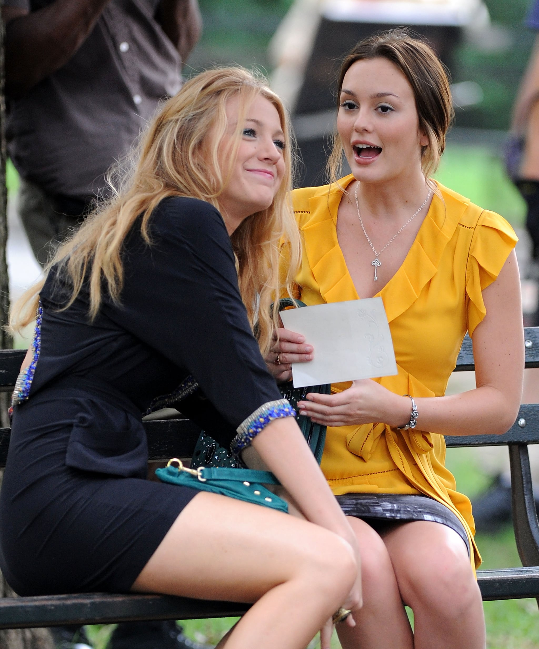 Blake Lively and Leighton Meester ran through lines together in July 2009.