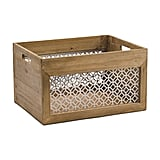 Large Metal Lattice Wood Bin ($17)