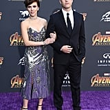 Scarlett Johansson and Colin Jost at Avengers Premiere 2018