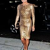 Gigi Hadid Gold Versace Birthday Dress 2018